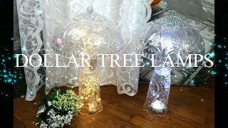 DOLLAR TREE Crystal Lamp DIY