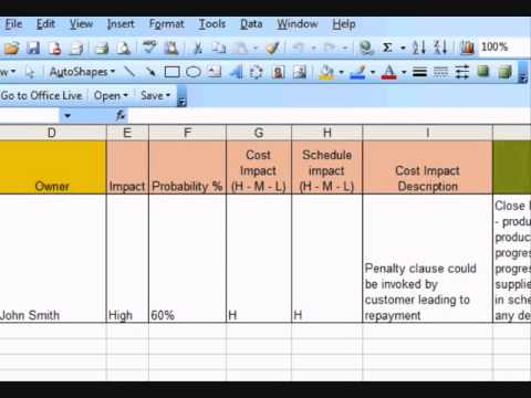 An example of risk register how to create a risk register using an example of risk register how to create a risk register using excel geezwild wajeb Image collections