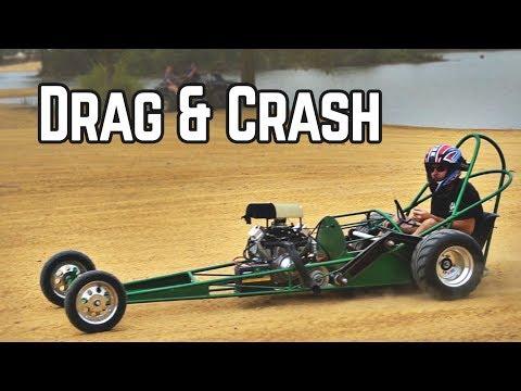 670cc Rail Dirt Drags, Rail CRASH, & 3 Engine Go Kart