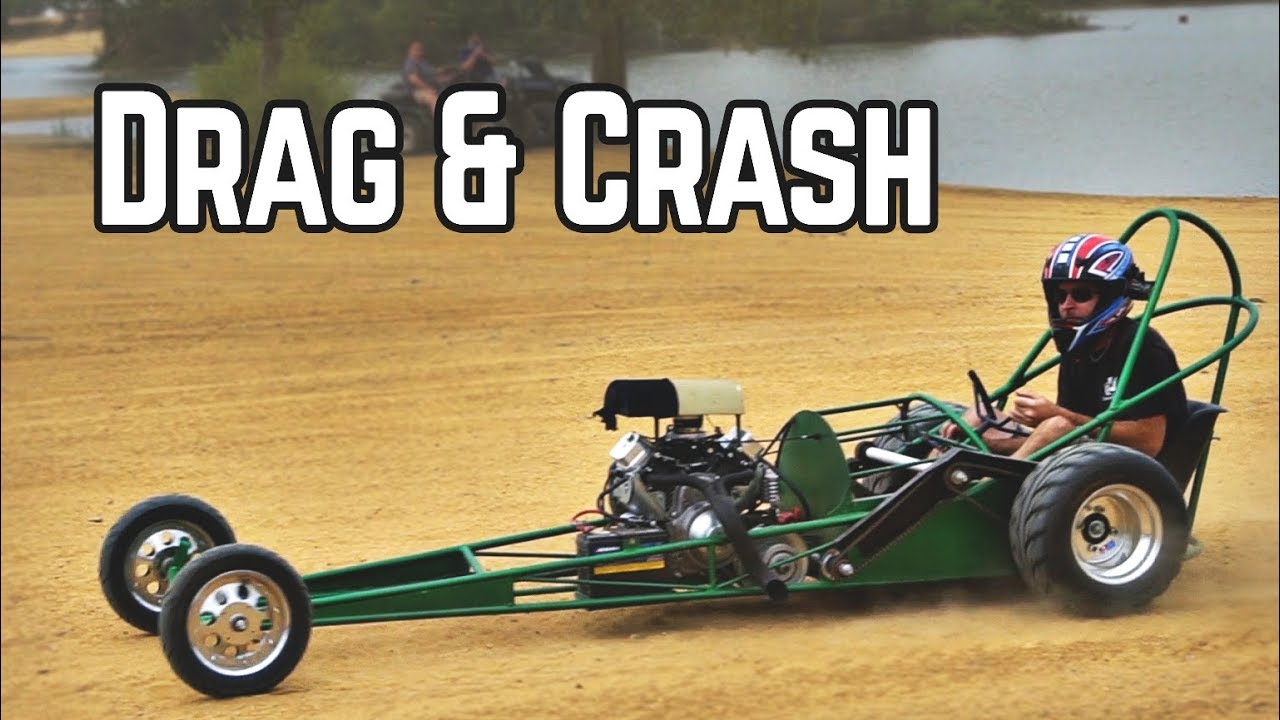 670cc Rail Dirt Drags, Rail CRASH, & 3 Engine Go Kart | Busco Beach Meet