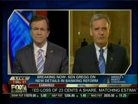Senator Gregg on Fox Business News Scoreboard with David Asman