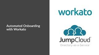 Workato onboard recipe | jumpcloud tutorial