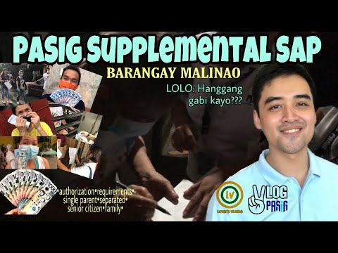 MAYOR VICO SOTTO Supplemental SAP Distribution | PASIG UPDATE