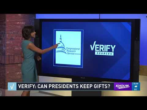 VERIFY: Can Presidents keep gifts from foreign governments?