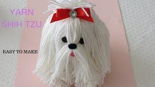 How to make a yarn/wool dog. Shih Tzu