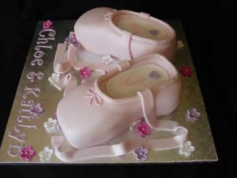 How To Make A Pointe Shoe Cake
