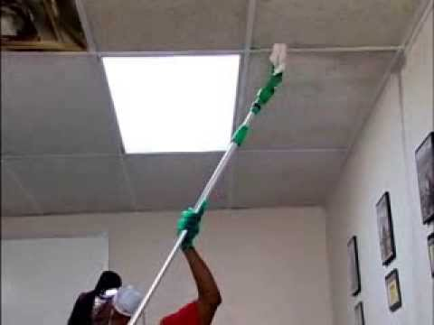 Acoustical Ceiling Tiles Cleaning Youtube
