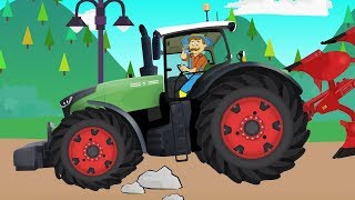 Truck,#Traktor, Forklift - Replacing a punctured tire in the Tractor Production | Wymiana Koła KIDS