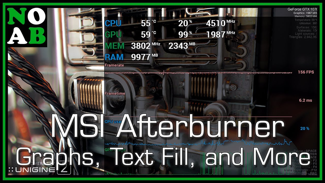 Monitor PC Performance with Display and Graphs- MSI Afterburner/RivaTuner  (Beta/v4 4 0 Update)