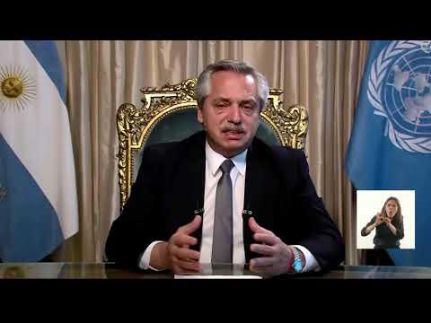 Alberto Fernández dio su primer mensaje en la Asamblea de la ONU