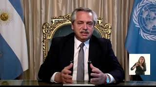 EN VIVO. Alberto Fernández habla ante la Asamblea General de las Naciones Unidas