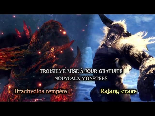Brachydios Tempête et Rajang Orage - Trailer MAJ 3 MHW Iceborne