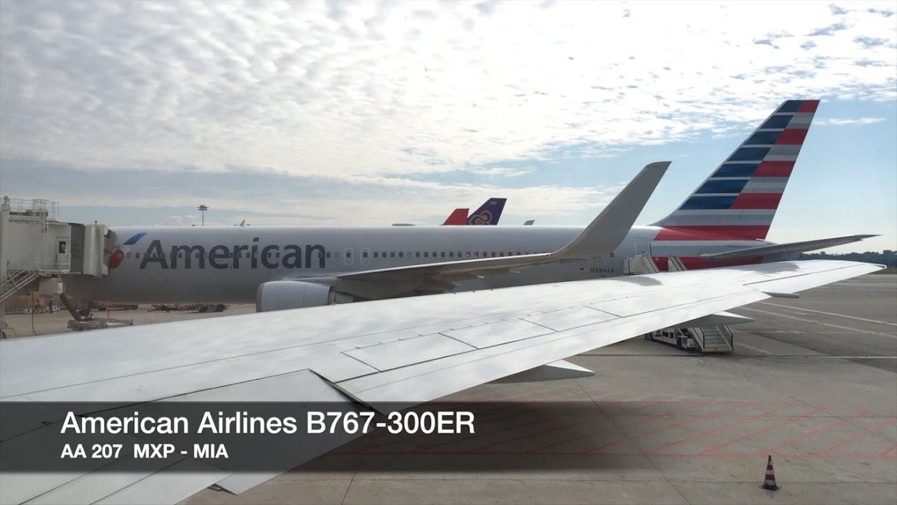 Trip Report American Airlines B767 300er Milan Mxp