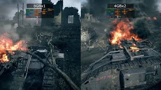 RAM Doble canal VS Canal simple BF1