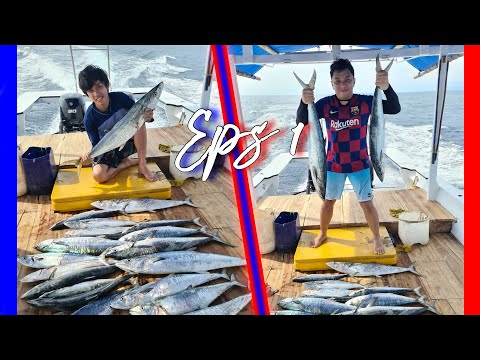 Mancing ikan tenggiri Besar di Jakarta, Fishing Big Mackerel Fish in Indonesia Eps 1
