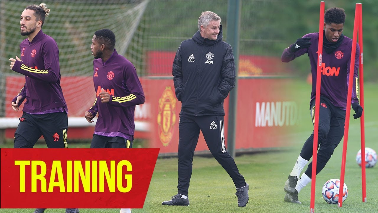 Training | United train ahead of Champions League clash against PSG