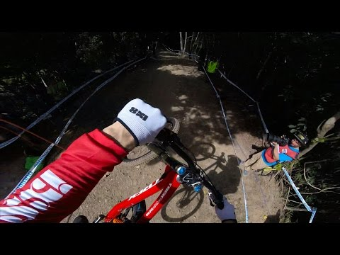 Downhill Mountain-biker Gee Atherton's GoPro  Run from UCI World Cup Qualifiers in Cairns