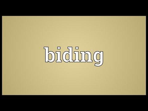 Biding Meaning