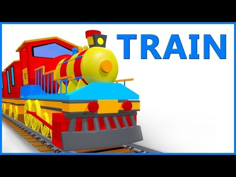 Train Cartoon Video Rhymes For Children | Poems For Kids