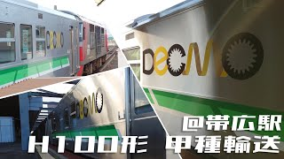【甲種輸送】 H100形12両 DF200牽引 in帯広駅
