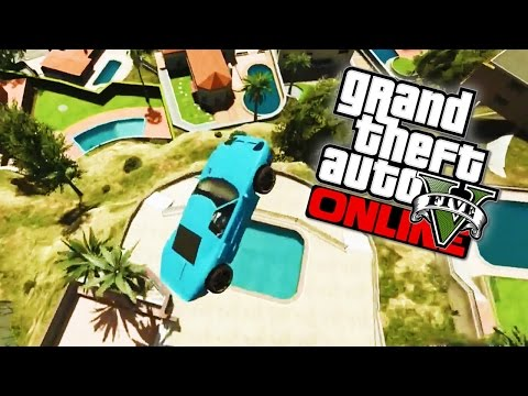 GTA 5 Online - Space Jam Demolition Derby, Epic Pool Jump & Colossal Tower! (GTA 5 Funny Moments)