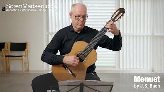Menuet by J. S. Bach - Danish Guitar Performance - Soren Madsen
