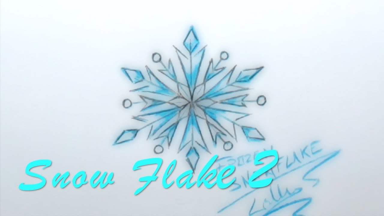 Uncategorized Snowflake Drawing Easy easy to draw popular disney frozen snow flake two lana3lw youtube