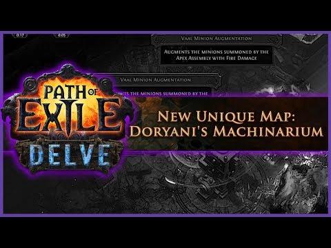 3.4 Delve's NEW Unique Map Doryani's Machinarium | Path of Exile