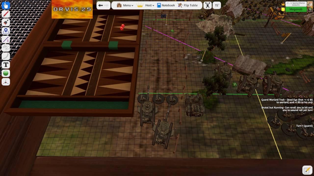 tabletop simulator warhammer 40k astra militarum v s orks
