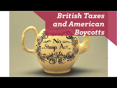 British Taxes and American Boycotts