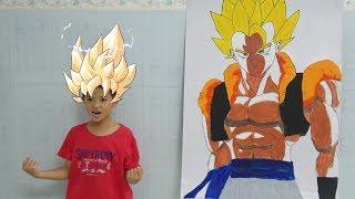 Vẽ và tô màu Gogeta bảy viên ngọc rồng - Surich Toysreview - Drawing vs coloring gogeta DIY for kids