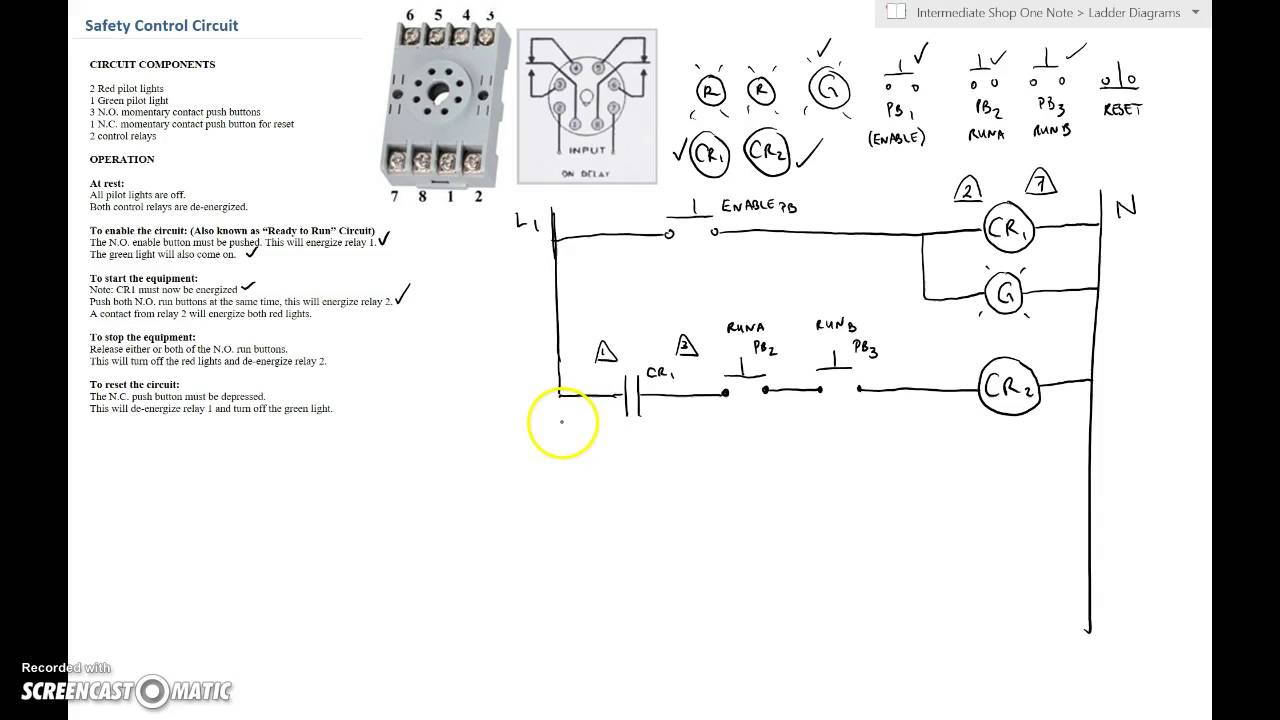 Ladder Diagram Basics 2 Safety Control Circuit Youtube