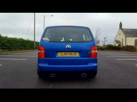 vw touran twin pipe exhaust sound youtube. Black Bedroom Furniture Sets. Home Design Ideas