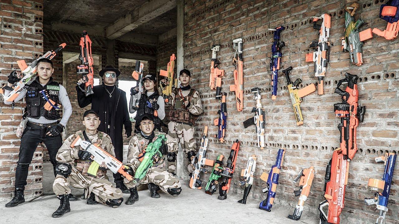 LTT Nerf War : [ New Boss ] Couple SEAL X Warriors Nerf Guns Fight Criminals Group Dr Ken Crazy