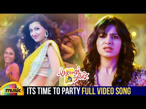 Attarintiki Daredi Movie Songs | Its Time To Party Full Video Song | Pawan Kalyan | Samantha | DSP