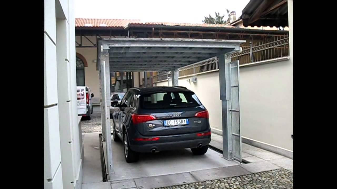 affordable ascensore per auto con tetto di copertura green park srl with coperture mobili per auto