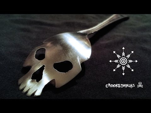 Spoon made into a skull