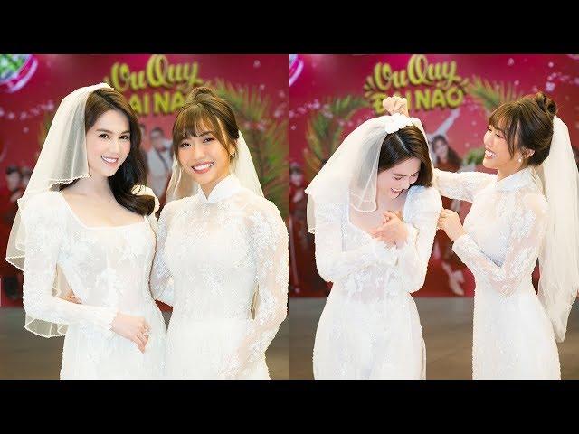 """Ngọc Trinh và Diệu Nhi mặc áo dài cô dâu, rạng rỡ trong """"đám cưới"""" quy tụ toàn sao showbiz"""