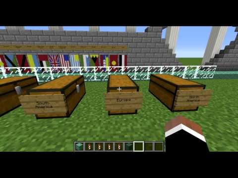 Minecraft: Flags of the World Showcase Video + World Download
