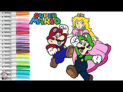 Super Mario Bros Coloring Book Page Mario Luigi Princess Peach Super Smash Bros | SPRiNKLED DONUTS