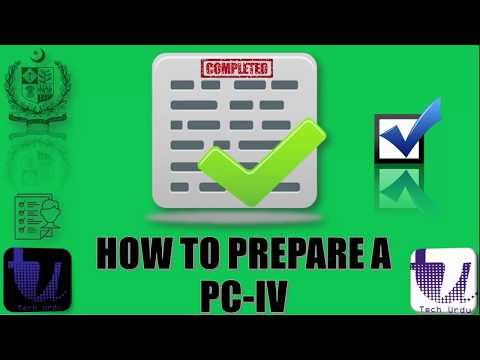 How to Prepare a PC-IV | PC-I to PC-V Tutorial Step by Step in URDU | PART 5/7 [Urdu/Hindi]