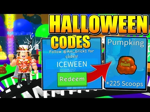 NEW HALLOWEEN UPDATE CODES IN ICE CREAM SIMULATOR! (Roblox)