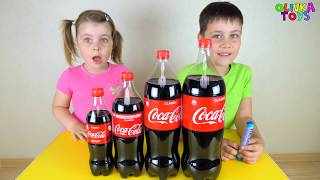 Coca Cola Finger Family  Song by Ed and olivia Кока-Кола плюс Ментос
