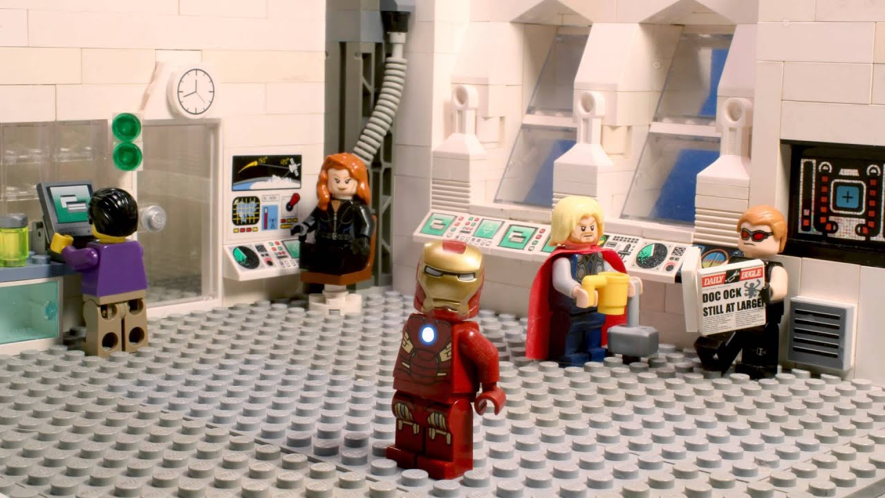 Lego avengers harlem shake youtube for Maison d iron man