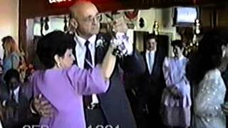 mario caruso dancing with wife rosalie at madary wedding