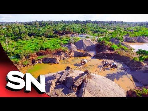 Peru Gold | Real destruction of illegal gold mines on Amazon rainforest revealed | Sunday Night