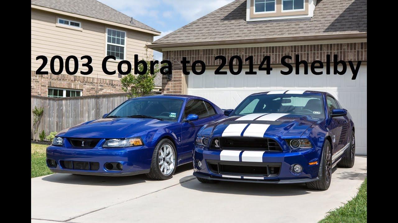 2003 cobra to 2014 shelby youtube
