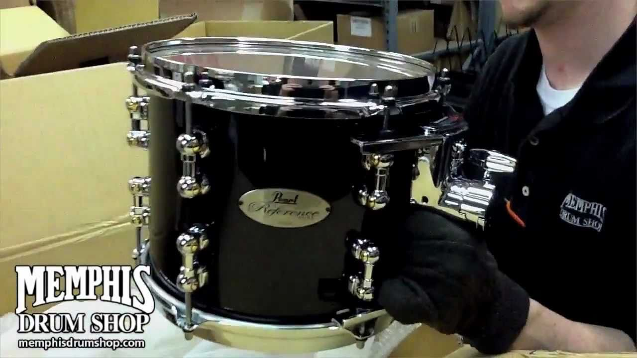 pearl reference pure drum set piano black unboxing youtube. Black Bedroom Furniture Sets. Home Design Ideas