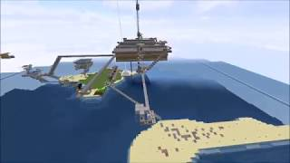 minecraft time lapse of the iron phoenix