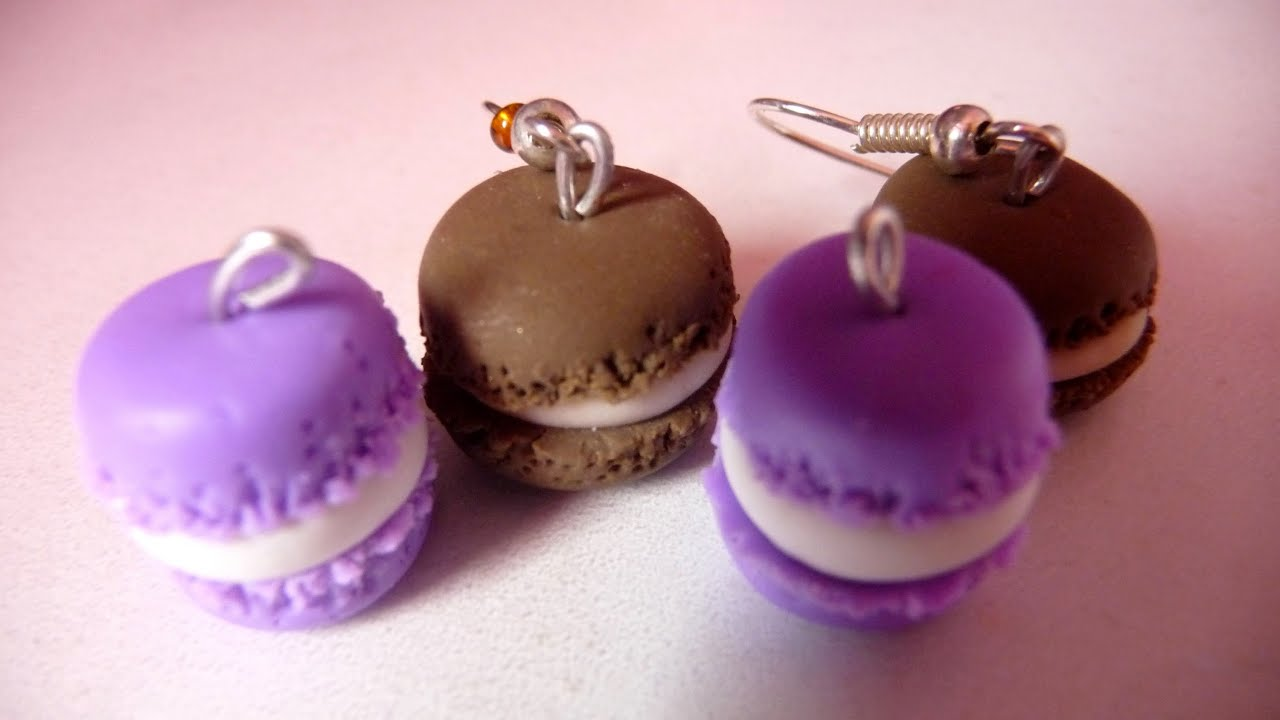 macarons violets en p te fimo youtube. Black Bedroom Furniture Sets. Home Design Ideas